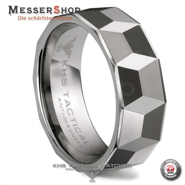 KHS Ringe - Wolframcarbid - 8 mm - Facette