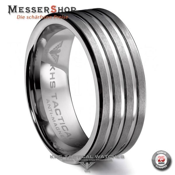KHS Ringe - Wolframcarbid - 8 mm - Vertikale Riefen